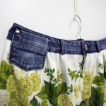 DIY summer skirt with denim waist