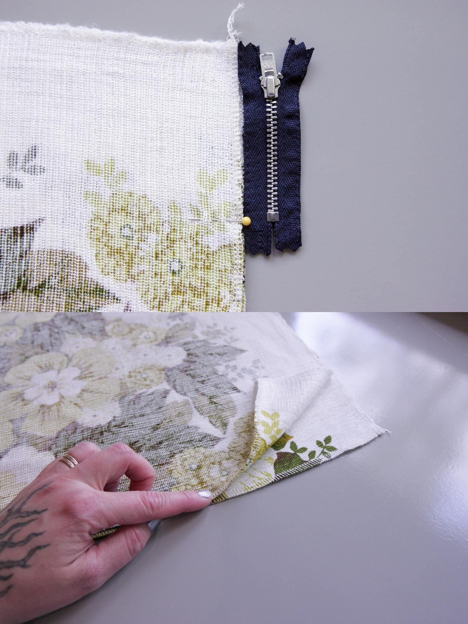 DIY summer skirt with denim waist