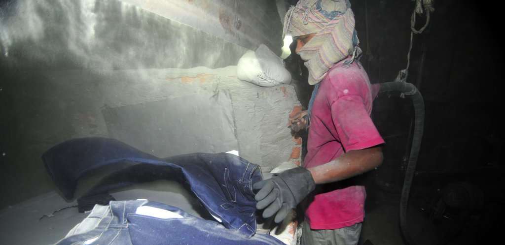 The dust from sandblasting causes workers silicosis. There is no cure for it.