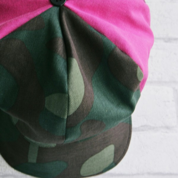 newsboy hat camouflage hot pink