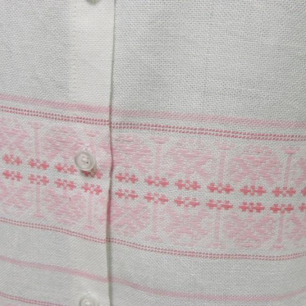 sleeveless dress white and pink